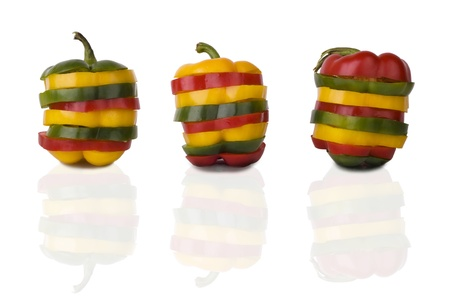 Mixed pepers  Standard-Bild