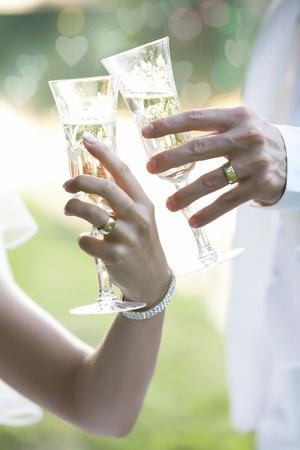 Wedding Champagne Toast  Standard-Bild