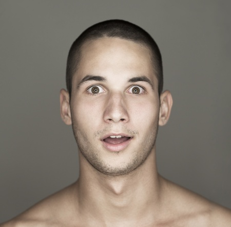 straight man: Young mans face Stock Photo