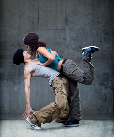 street dance: Passion dance couple  Stock Photo