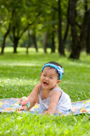 verry: Baby in The Graden Verry Happy