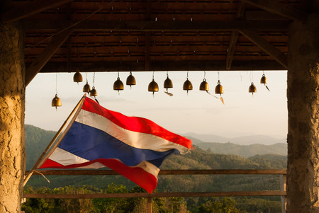 relate: Thai Flag and bell in relate,Thailand