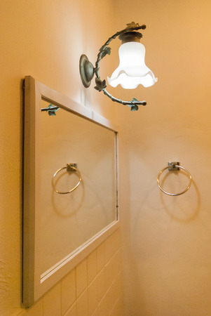 wall lamp in bathroom photo