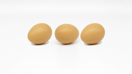 tripple: Tripple egg isolate on white background Stock Photo