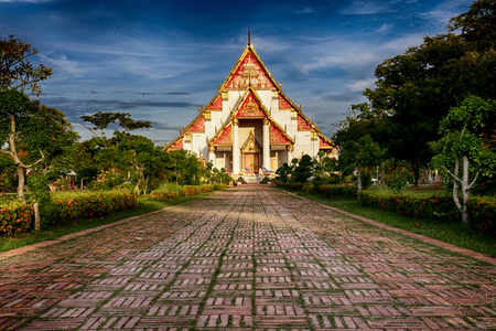 visiting: ancient temple is worth visiting in Thailand Stock Photo