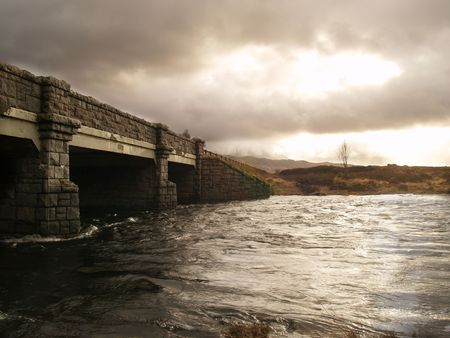 Old bridge in the Scottish Highlands photo