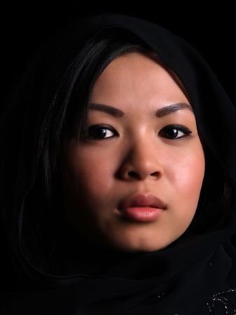 Beautiful Asian shy looking girl
