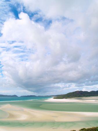 whitehaven: A paradise beach in Australia (Whitehaven beach, Whitsunday Island)