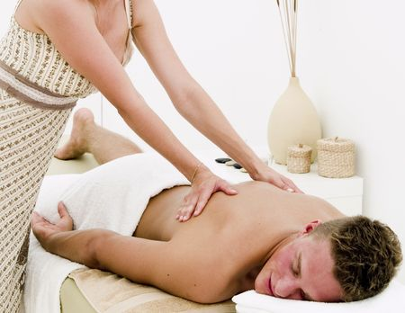 A nice looking man receiving a well deserved spa treatment Stock Photo - 5351764