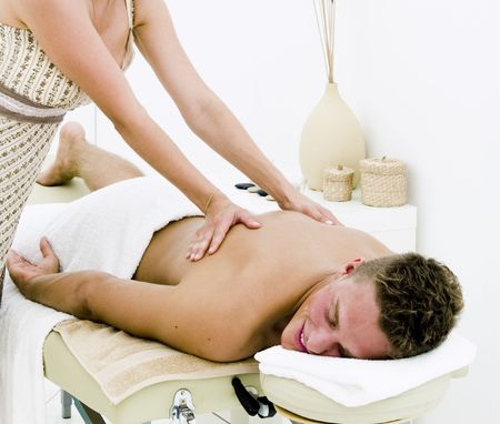 A nice looking man receiving a well deserved spa treatment Stock Photo - 5351762