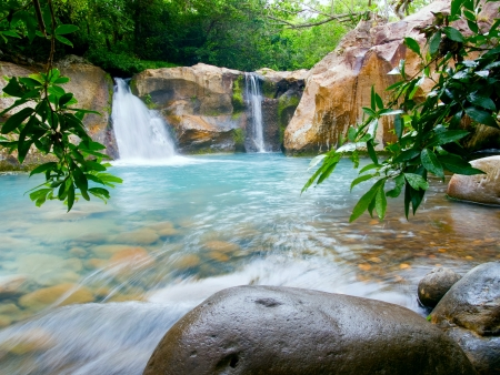 rica: Waterfall at the Rinc—n de la Vieja National Park, Costa Rica