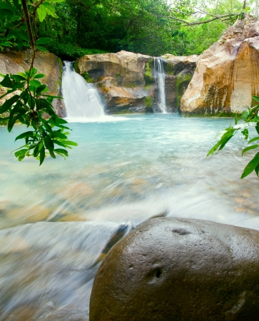 Waterfall at the Rinc—n de la Vieja National Park, Costa Rica