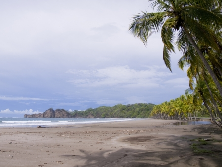 rica: Beautiful tropical beach near Samara in Costa Rica Stock Photo