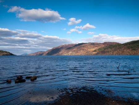 ness: View from Fort Augustus over the famous Loch Ness in Scotland