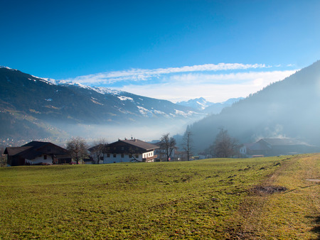 Small Austrian village in the Hochzillertal area in Tirol photo
