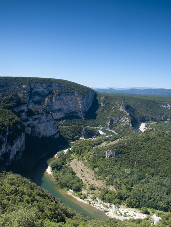 l natural: A bend in the famous river of the Ardeche gorge