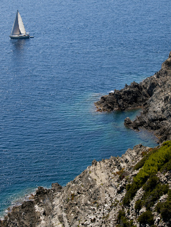 View from the French Port-Cros island in the mediterranean sea photo
