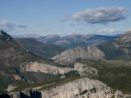 gorges: The Gorges du Verdon the famous canyon in Alpes-de-Haute-Provence, France Stock Photo