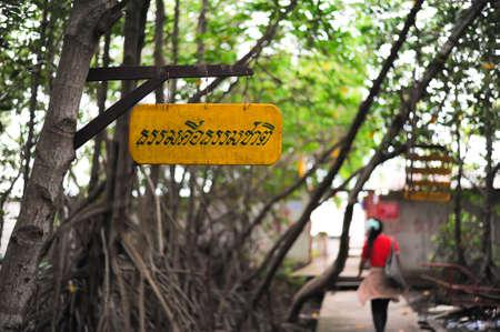 Buddhist qoute in Thai language describe