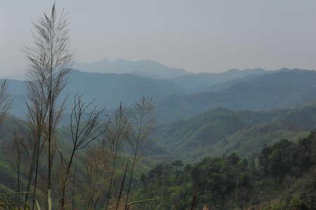 Landscape view of  Khao Chang Phuak Mountain in Thong Pha Phum National Park ,Kanchanaburi province Thailand