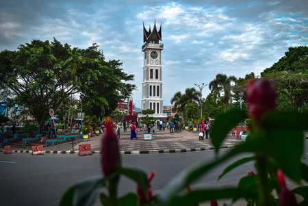 Big clock (Jam Gadang) Bukittinggi west Sumatra