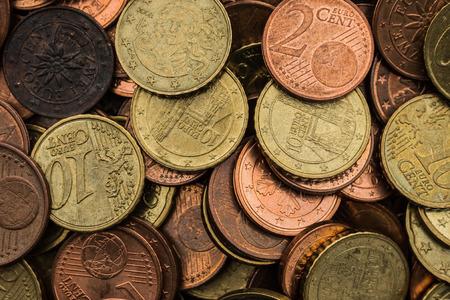 euro coin mix Stock fotó
