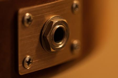 electric guitar jack close-up