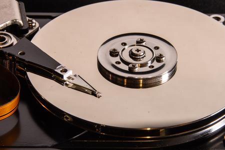 open harddisk closeup