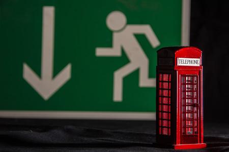 brexit concept - telephone kiosk Stock fotó