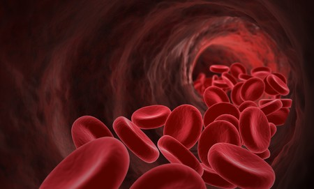 Blood flowing Stock Photo