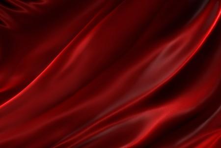 Ondeggianti trama di seta rossa Archivio Fotografico - 7743098