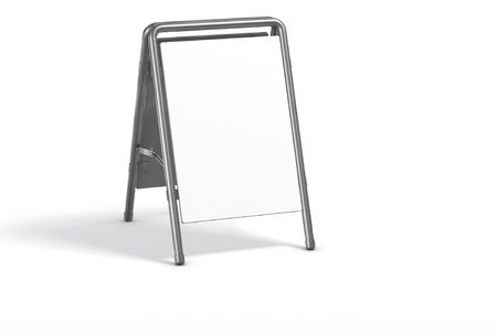 Sandwich board isolated on white.