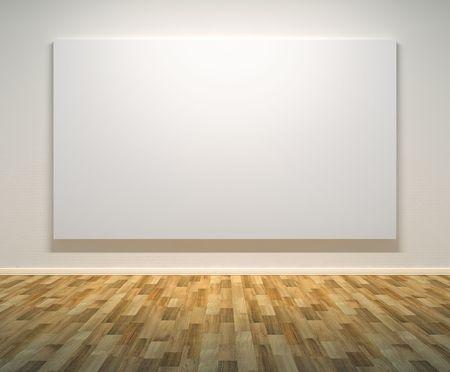 beursvloer: Lege schilderijen frame op de muur.