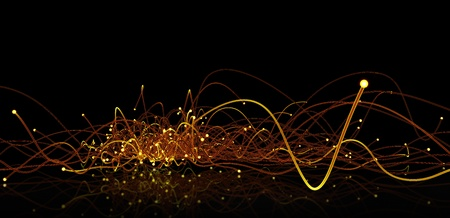 Glowing edges. Abstract Technology background Stock Photo
