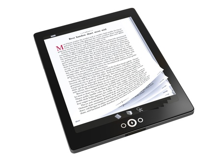 Reading E-books on the tablet PC- concept image