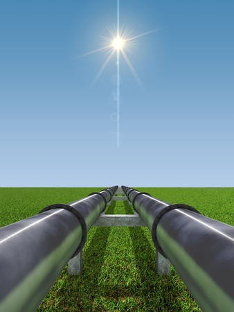 siderurgia: Imagen conceptual de industria de petr�leo y Gas