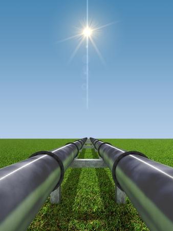 Immagine di concetto di industria del Gas e del petrolio Archivio Fotografico - 8681812