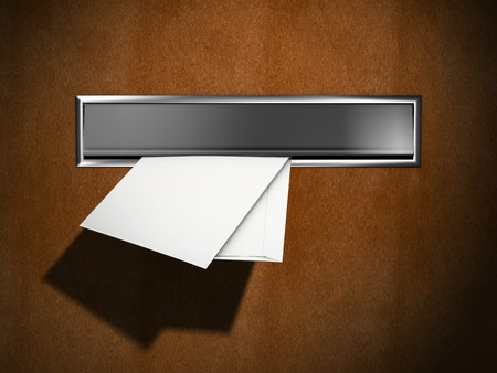 New letters in the letterbox Stock Photo - 8681885
