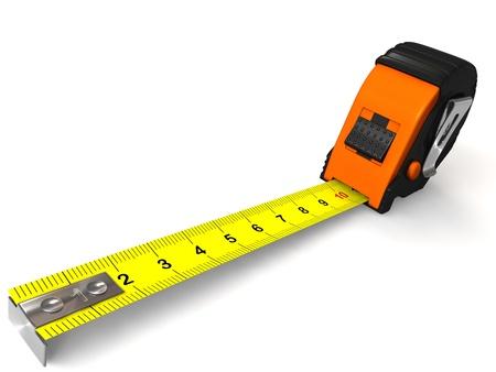 Measuring tape , 3D image