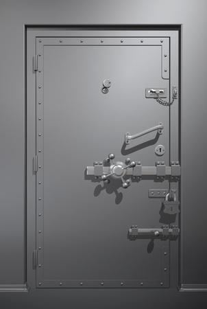 seguridad industrial: Puerta met�lica segura