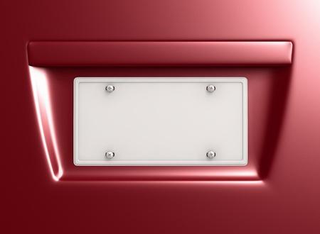 plaque immatriculation: 2 plaques d'immatriculation avec un espace vide pour la conception. Chemin de d�tourage inclus Banque d'images