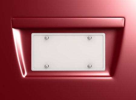 license plate: License Plate 2 with empty space for design. Clipping path included
