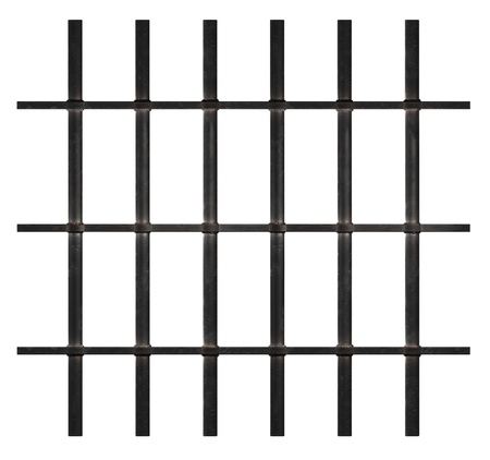 Rusty Bars isolated on white photo