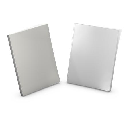 Blank magazines isolated on white Stock Photo