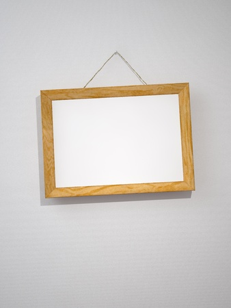 Picture frame on the wall photo