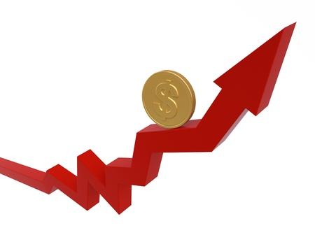 Business Graph   Money Concept Stock Photo - 13907805