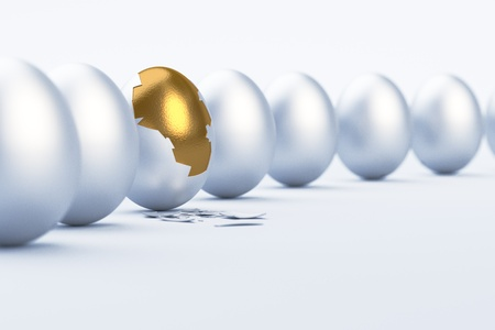 Golden Egg  Difference   uniqueness concept image