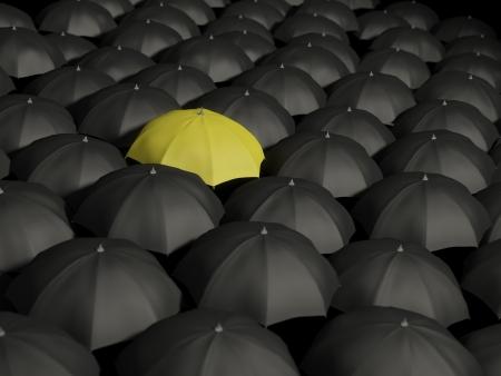 Lonely yellow umbrella II