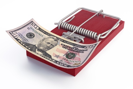 Mousetrap with money Stock Photo - 14131189