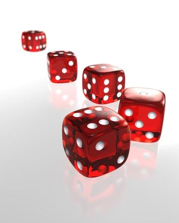 Gambling dices Stock Photo